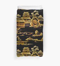 BLACK GOLD PAGODA GARDENS House of Harlequin Duvet Cover