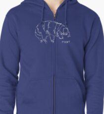 Oh Noes a Water Bear!  Zipped Hoodie