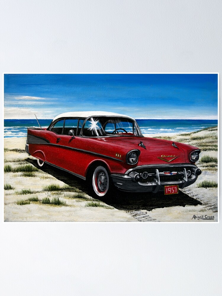 57 CHEVY CUT-OUT STICKER POSTCARD 1957 CHEVROLET