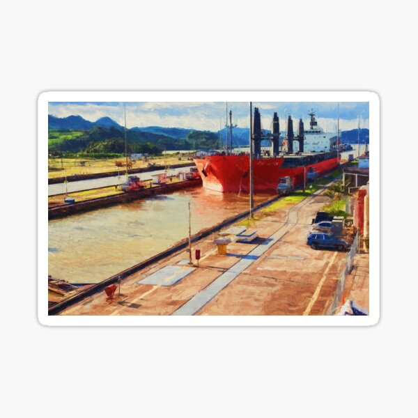 Panama Canal Sticker