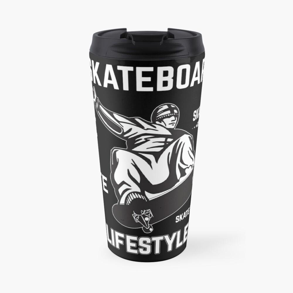 Skateboarding Skater Travel Mug By Geschenkdesigns Redbubble