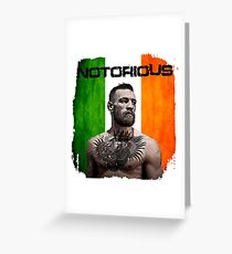 """""""The Notorious"""" Conor McGregor UFC Greeting Card"""