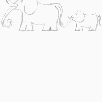 Elephant Congo – Light Grey by Ninjbee