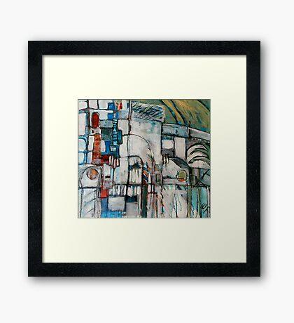 street scene spain Framed Print