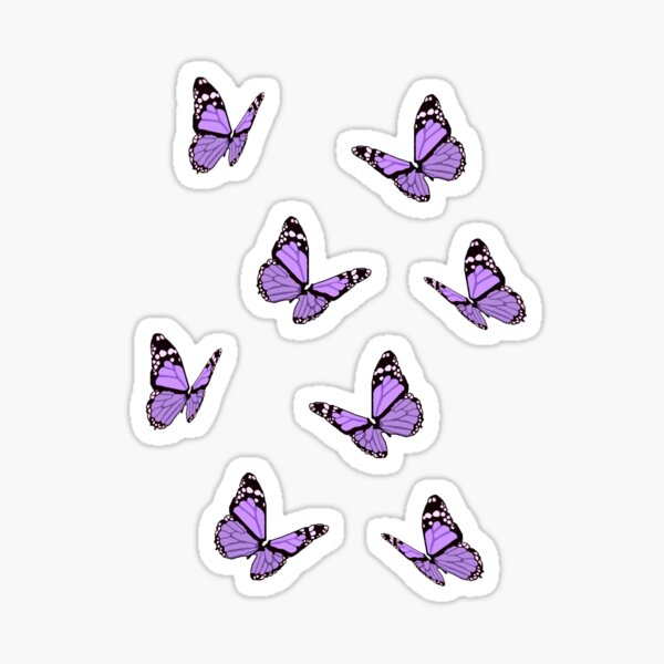Lavender Butterflies Sticker