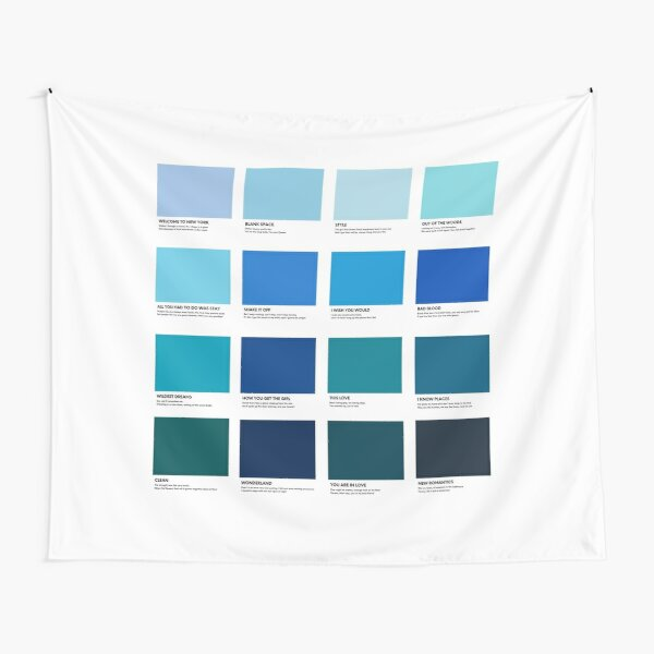 Taylor Swift 1989 Album Pantone Colour Swatch Track list Compilation Tapestry