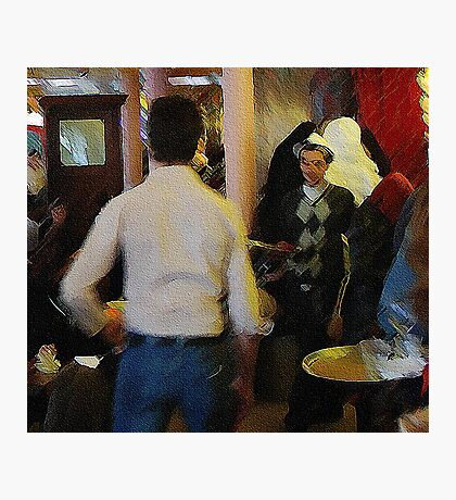 two Paris waiters....confrontation Photographic Print