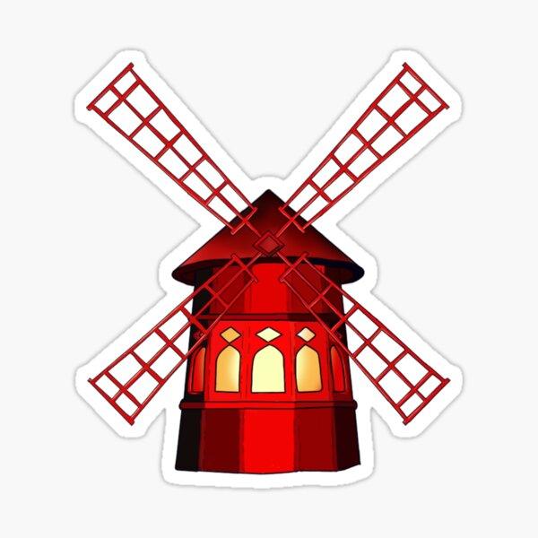 Le moulin à vent Sticker fini brillant