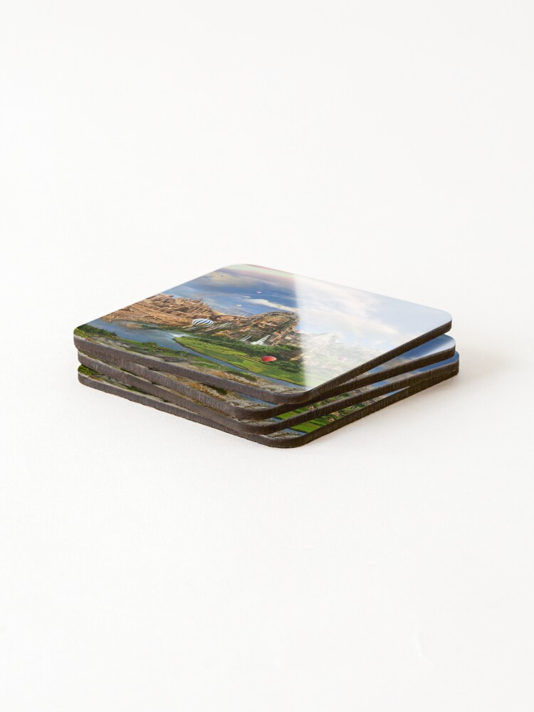 Alternate view of Valley Of The Temples - spiritual, peaceful temple art coexist Coasters (Set of 4)
