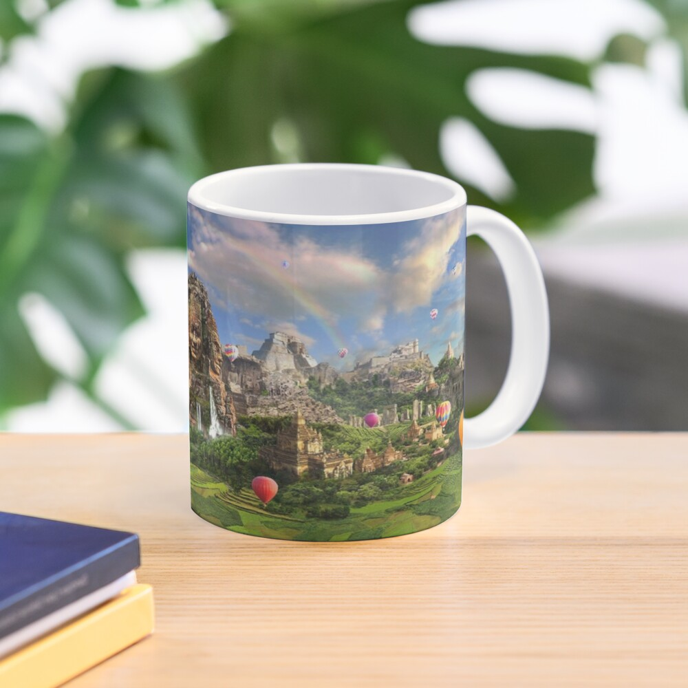 Valley Of The Temples - spiritual, peaceful temple art coexist Mug