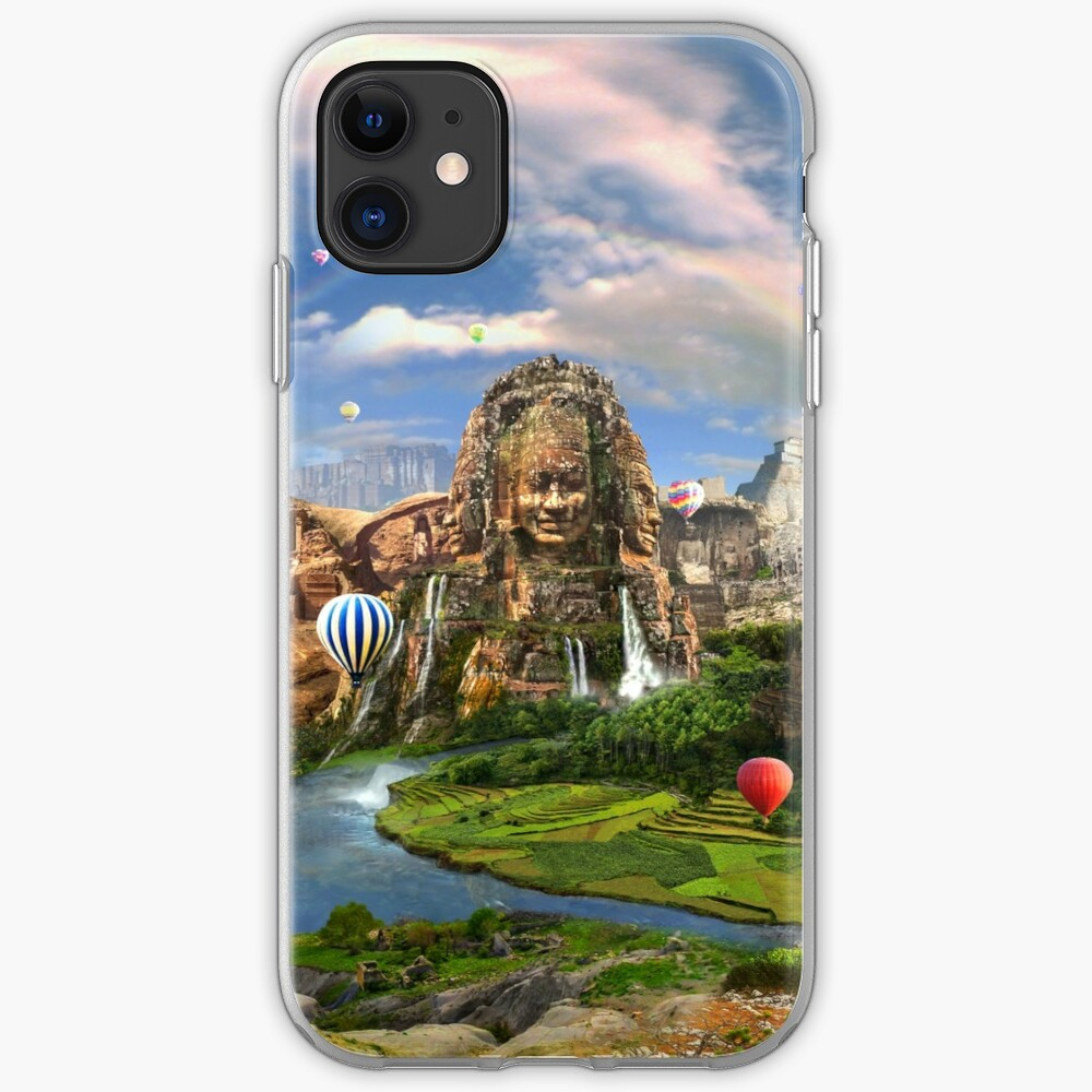 Valley Of The Temples - spiritual, peaceful temple art coexist iPhone Case & Cover