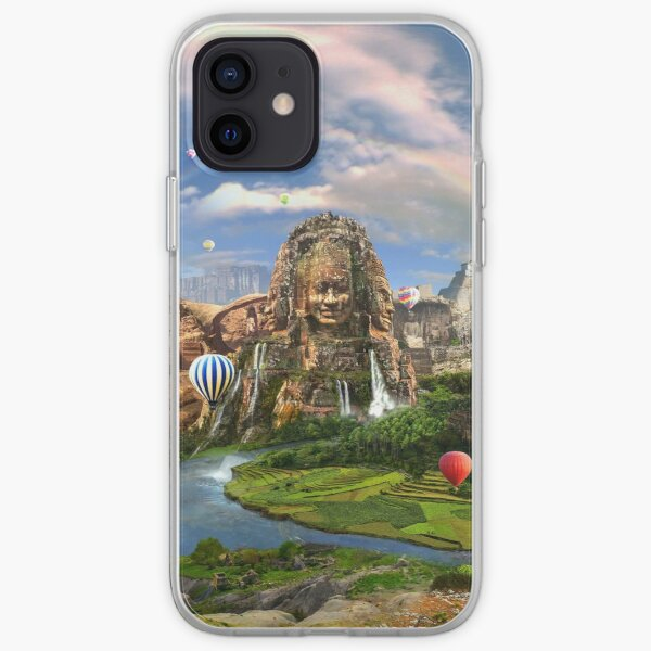 Valley Of The Temples - spiritual, peaceful temple art coexist iPhone Soft Case