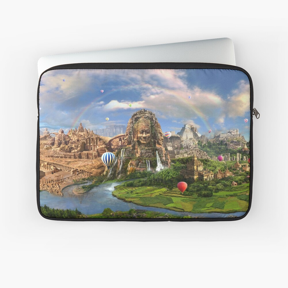 Valley Of The Temples - spiritual, peaceful temple art coexist Laptop Sleeve