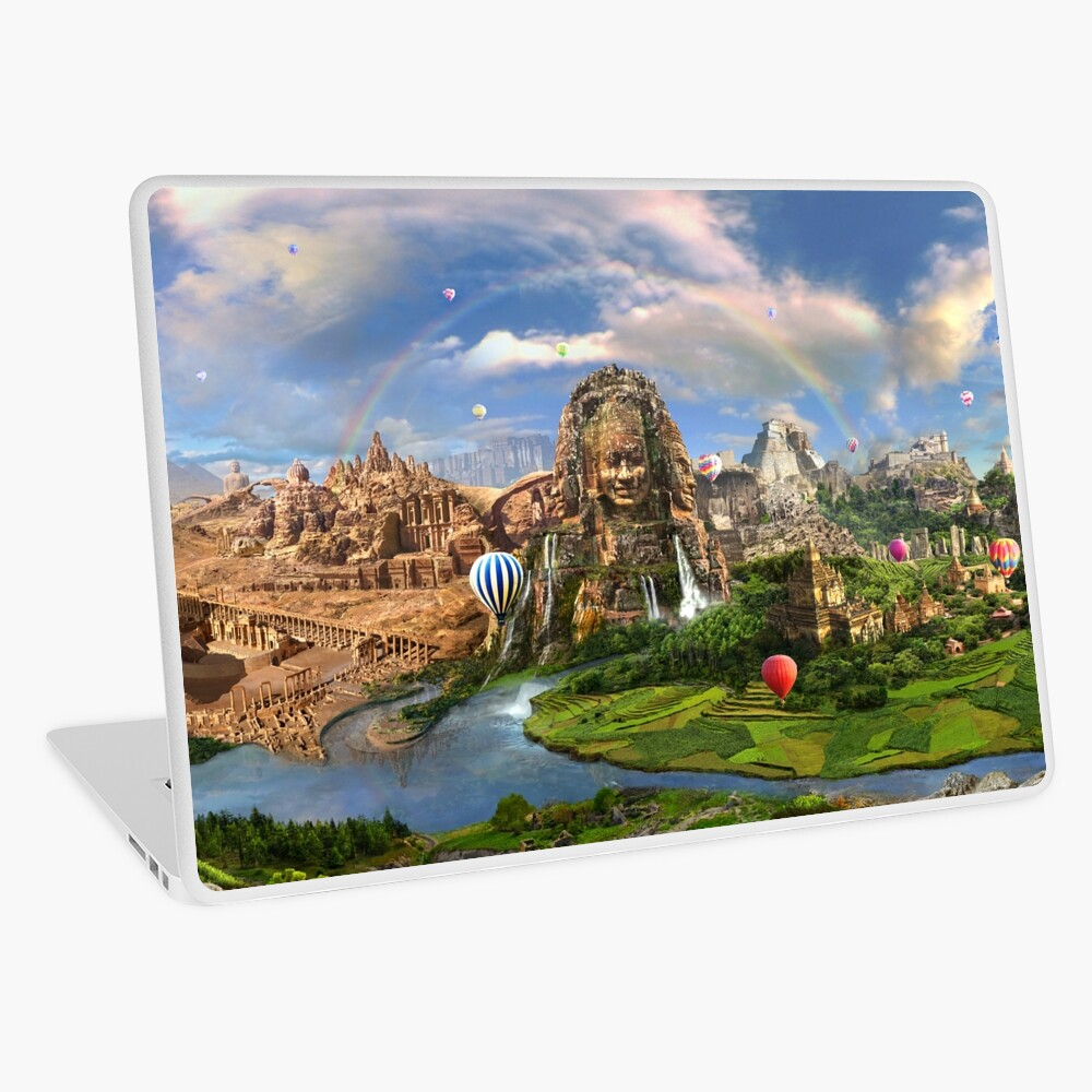 Valley Of The Temples - spiritual, peaceful temple art coexist Laptop Skin