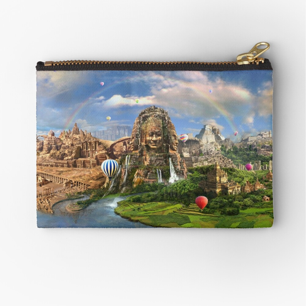 Valley Of The Temples - spiritual, peaceful temple art coexist Zipper Pouch