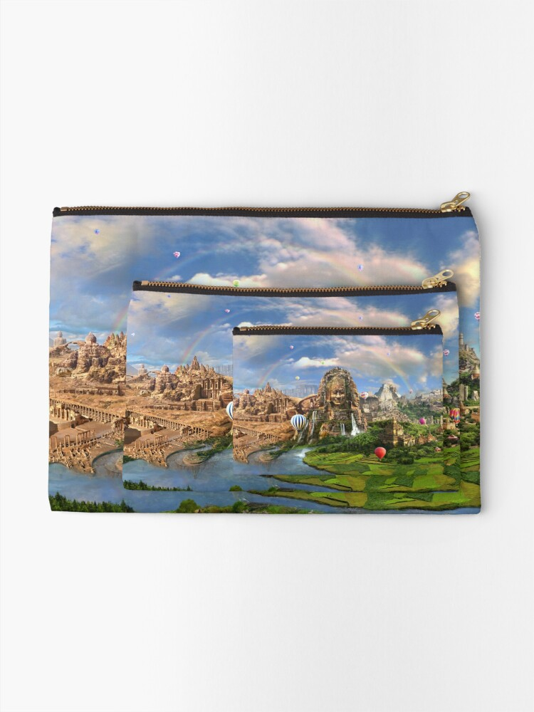 Alternate view of Valley Of The Temples - spiritual, peaceful temple art coexist Zipper Pouch