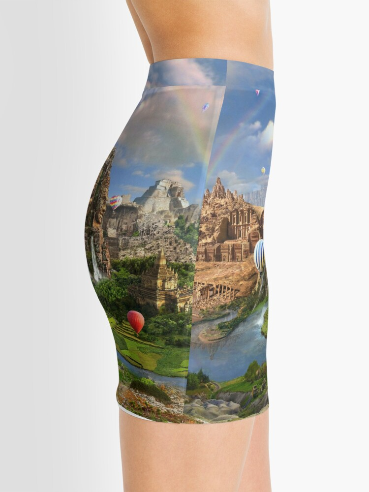 Alternate view of Valley Of The Temples - spiritual, peaceful temple art coexist Mini Skirt