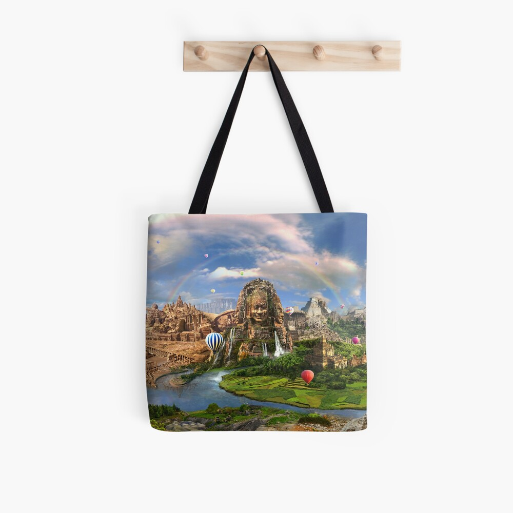 Valley Of The Temples - spiritual, peaceful temple art coexist Tote Bag
