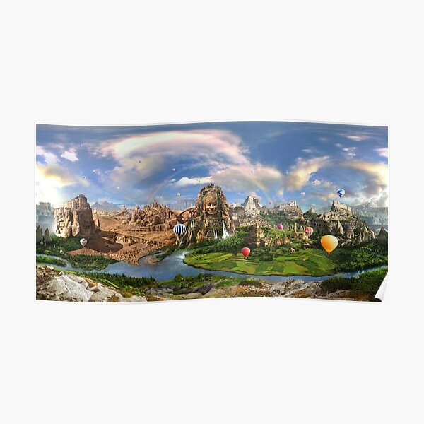 Valley Of The Temples - spiritual, peaceful temple art coexist Poster