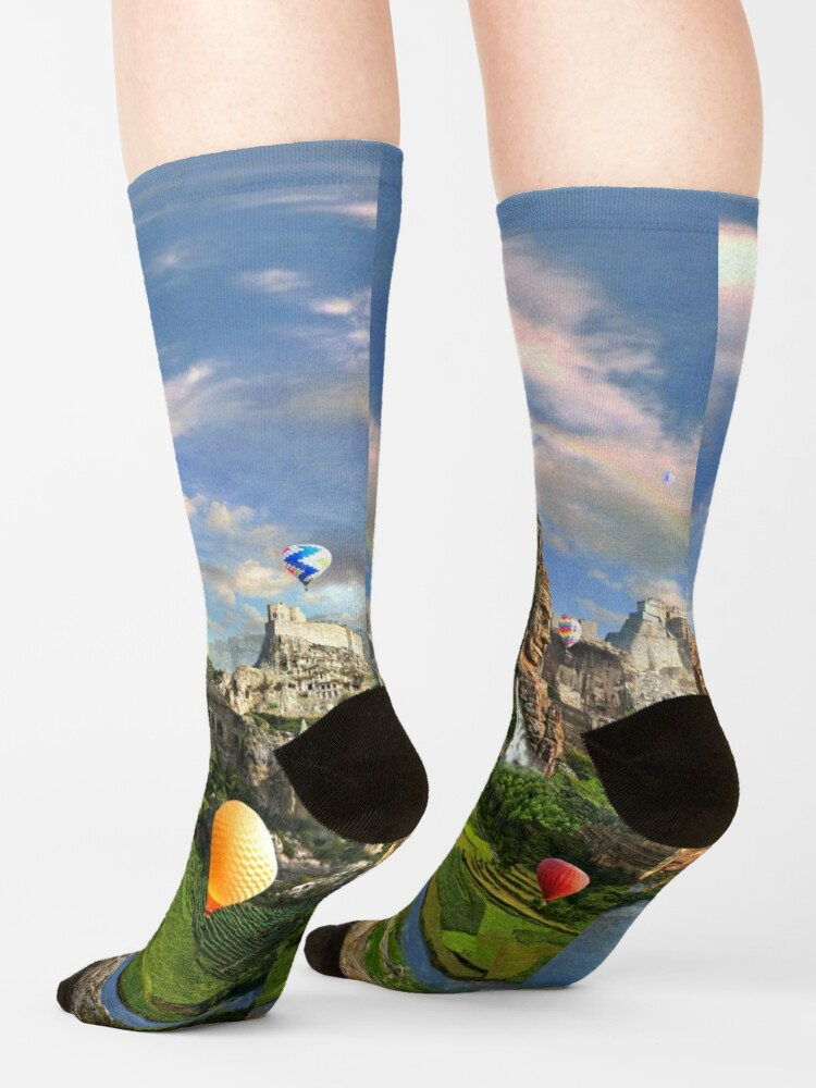 Alternate view of Valley Of The Temples - spiritual, peaceful temple art coexist Socks