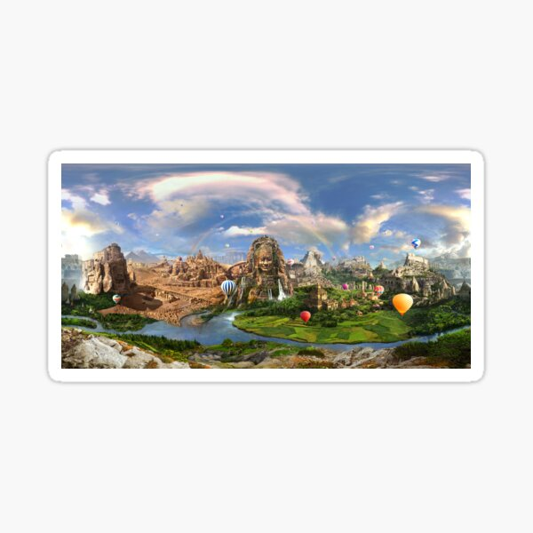 Valley Of The Temples - spiritual, peaceful temple art coexist Sticker