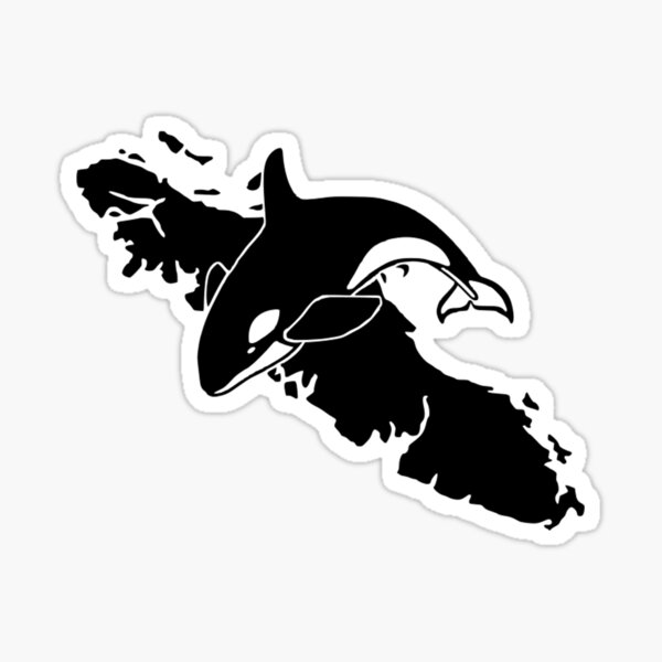 Vancouver Island Art & Whale Watching Sticker
