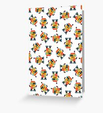 Happy Robot Pattern Greeting Card