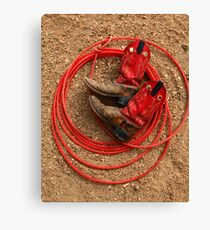 Red Boots and Red Lariat Canvas Print