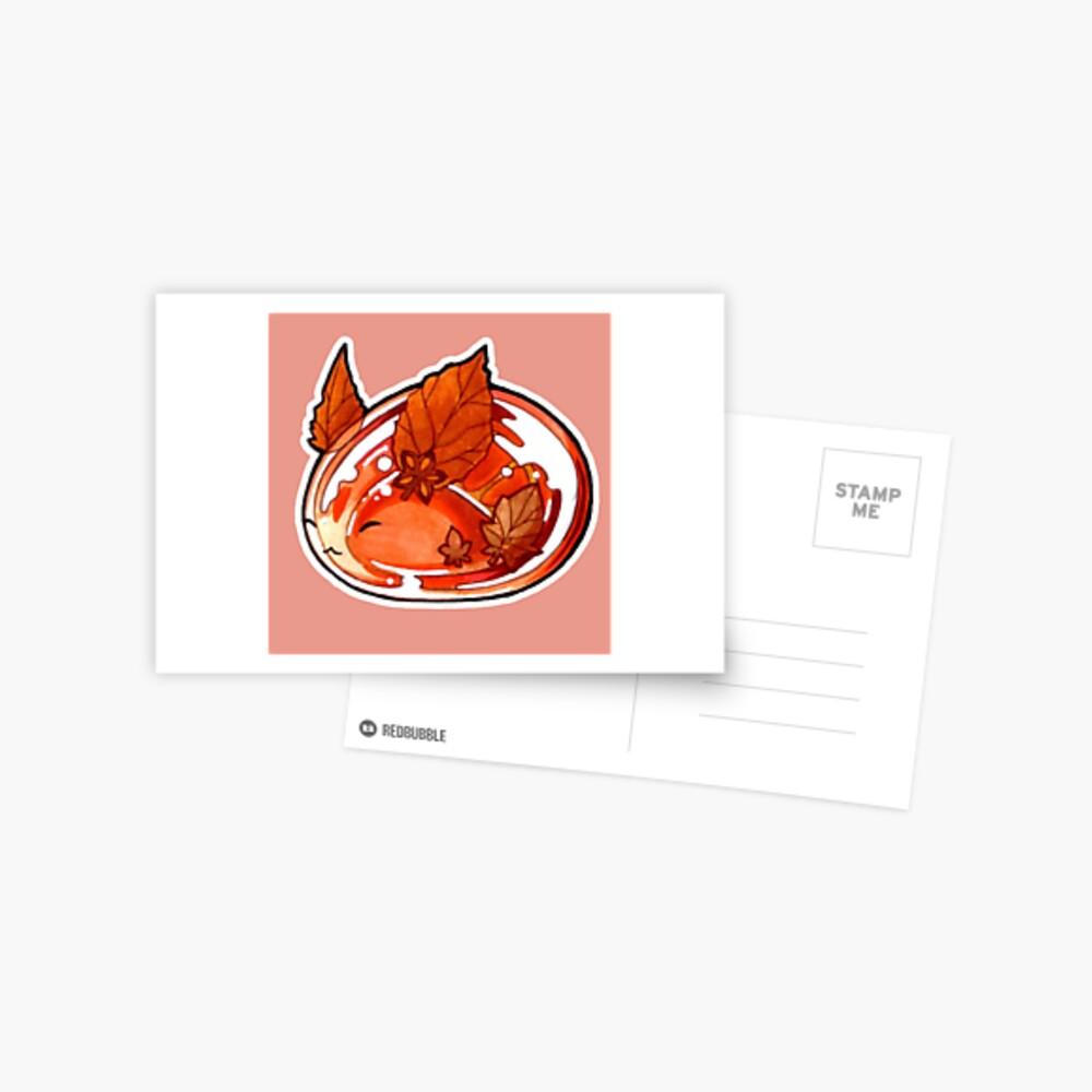 Autumn Bunny Postcard