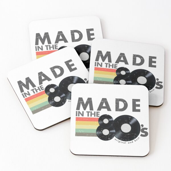 Made In The 80s for Birthday Gift Coasters (Set of 4)