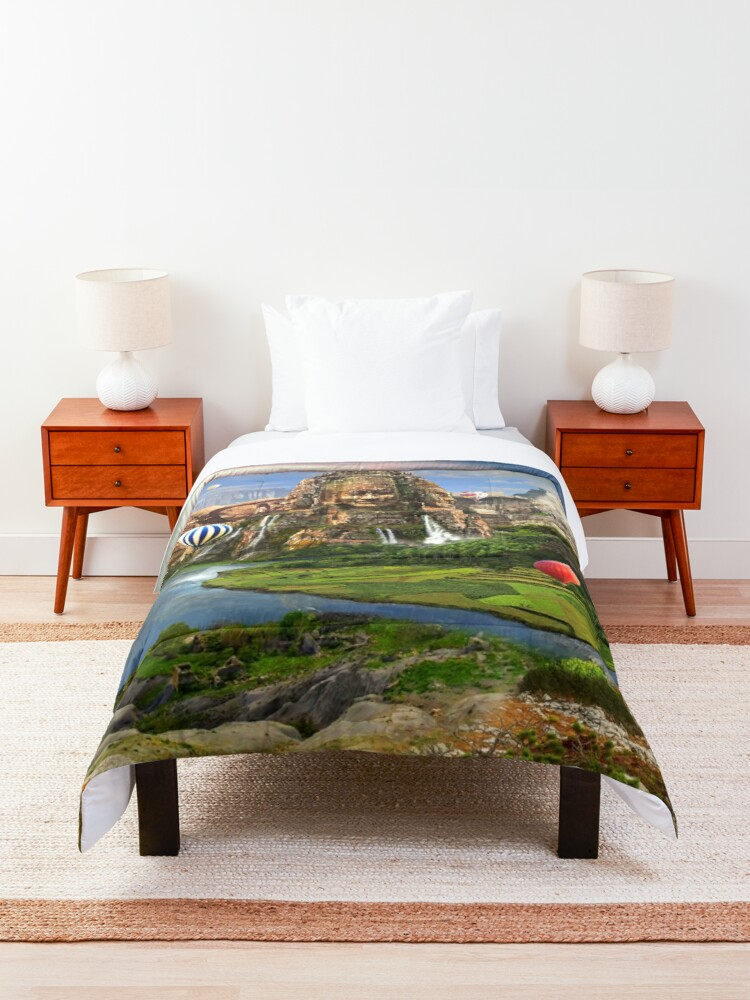 Alternate view of Valley Of The Temples - spiritual, peaceful temple art coexist Comforter
