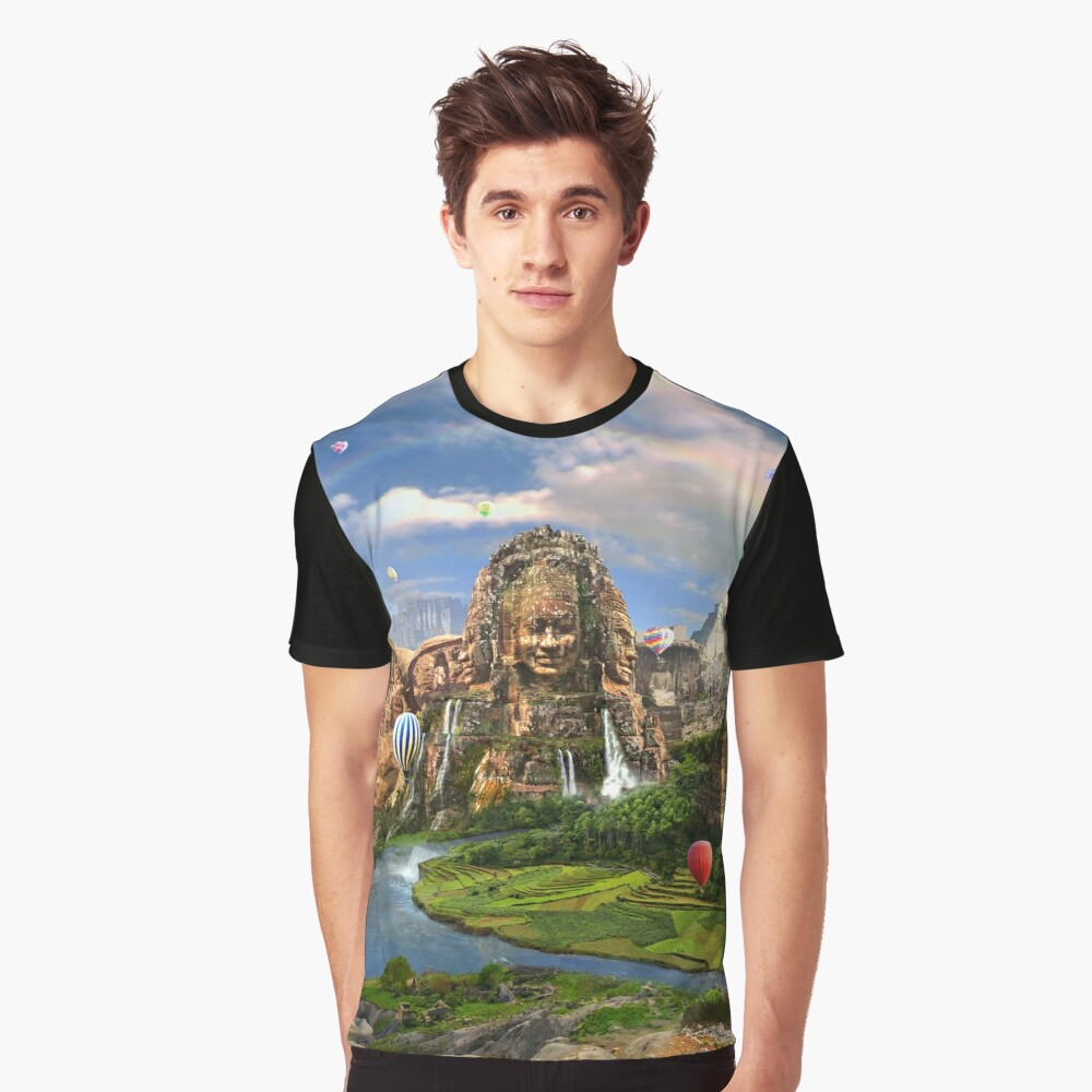 Valley Of The Temples - spiritual, peaceful temple art coexist Graphic T-Shirt