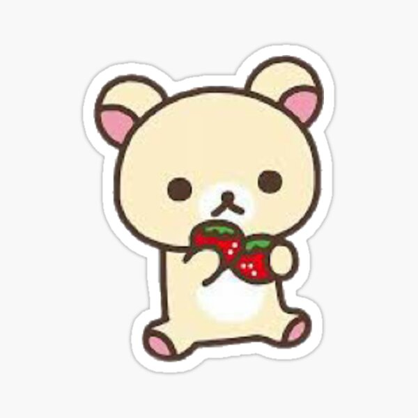 korilakkuma strawberry Sticker