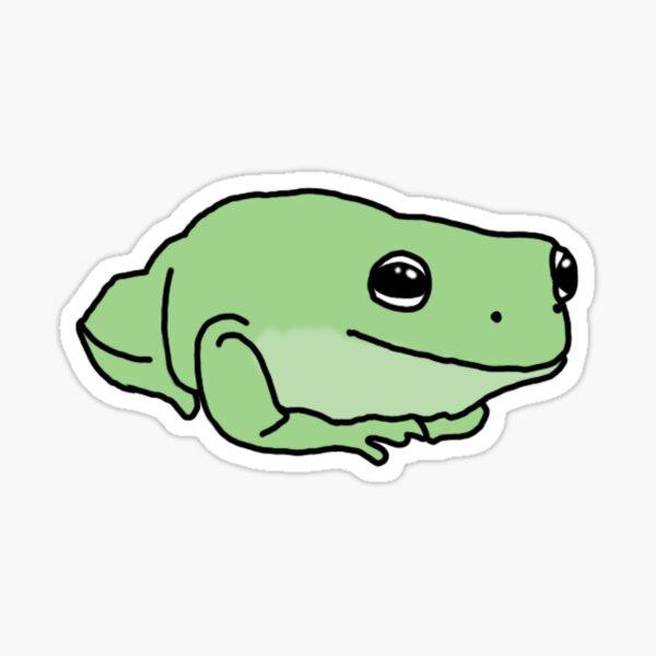 little green frog Sticker