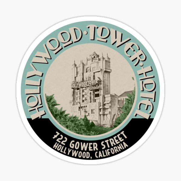 Hollywood Tower Sticker