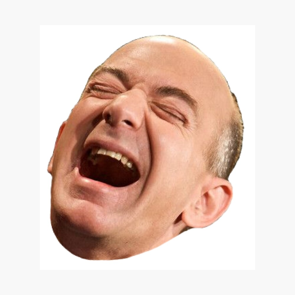 Jeff Bezos lacht