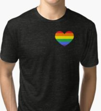 Gay Heart (B) Tri-blend T-Shirt