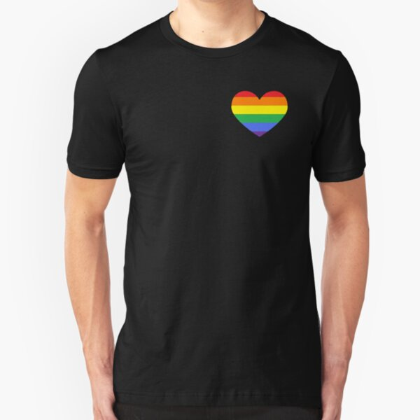 Gay Heart (B) Slim Fit T-Shirt