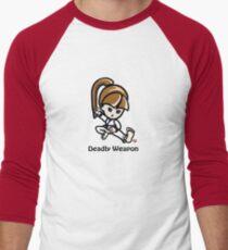 Martial Arts/Karate Girl - Deadly Weapon Men's Baseball ¾ T-Shirt