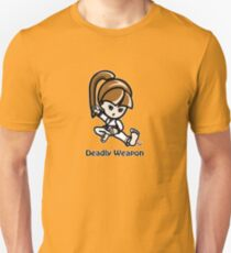 Martial Arts/Karate Girl - Deadly Weapon Unisex T-Shirt