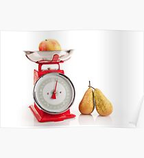Kitchen red weight scale utensil Poster