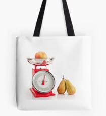 Kitchen red weight scale utensil Tote Bag