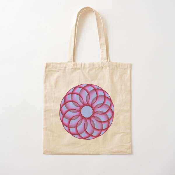 Spirograph with Red Pink Blue Cotton Tote Bag