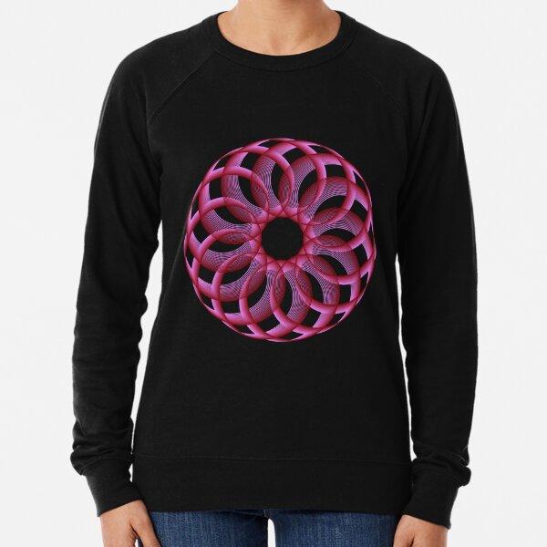Spirograph with Red Pink Blue Lightweight Sweatshirt