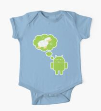 DROID Dreaming of an Electric Sheep (iron-on look) One Piece - Short Sleeve