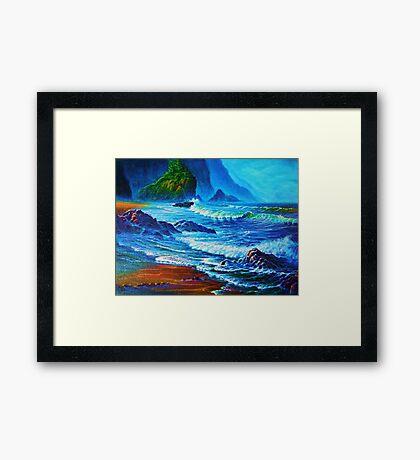 Morning Surf Oregon Framed Print