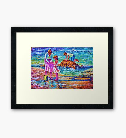 Sunday afternoon Shore study Framed Print