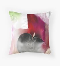 Black Apple Throw Pillow