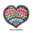 Love is colorful -Mandala heart - Valentine's day by Fun Arts