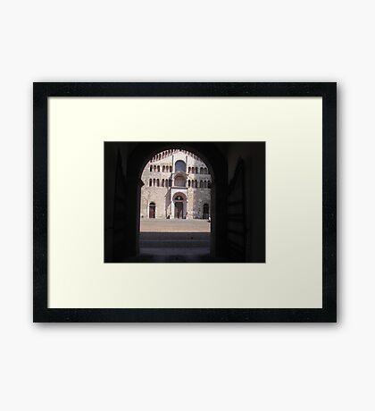 IL DUOMO DI PARMA...ITALY... Europa-- 2000 visualizzaz agosto 2013 -VETRINA RB EXPLORE 26 DICEMBRE 2012 -- Framed Print